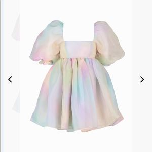NWT Selkie Rainbow Puff Dress 6